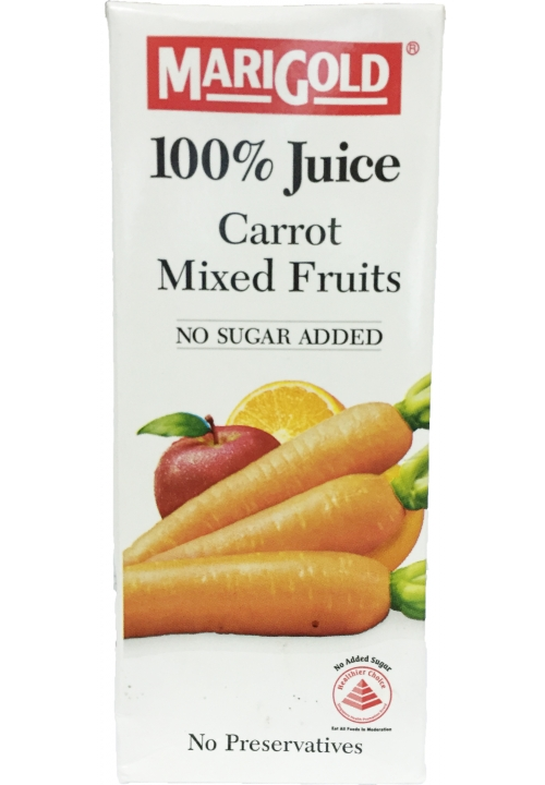 Marigold 100% Juice Carrot Mixed Fruits Packet