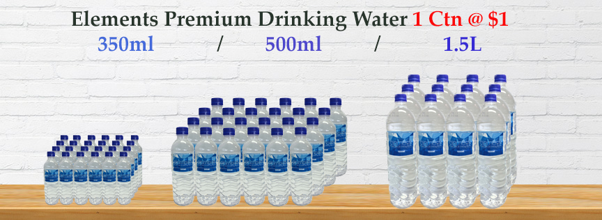 Get Drinking Water at $1 ONLY! Limited Time Offer!
